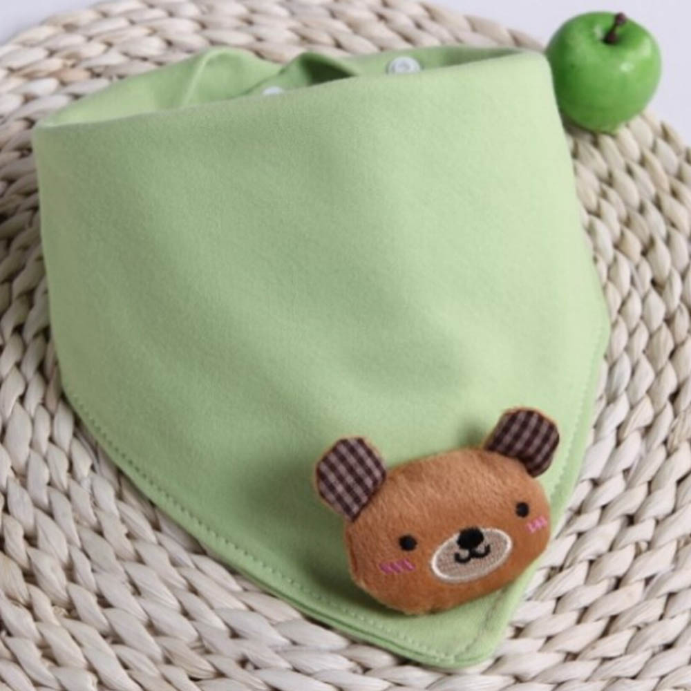 Cartoon Kids Feeding Bib Random Partern Baby Bibs Burps Cotton Bib Saliva Towels Infant Slobber Towel Soft Bibs Double Layers