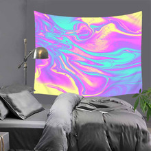 Oil painting mountain tapestry Abstract geometry Multifunction tapestry Wall hanging Beach towel creative tablecloths picnic