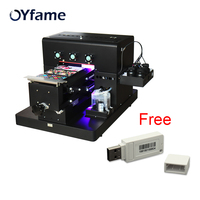 OYfame A4 UV Printer UV Phone Cover Printer for Phone Case leather TPU Golf UV Printing Machine With White ver9.0 RIP software