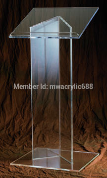Pulpit Furniture Free Shipping Hot Sell Deluxe Beautiful Cheap Clear Acrylic Lectern Acrylic Podium Plexiglass