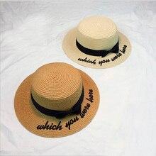 Livre Delivery2018 Osso Chapéu de Sol Para As Mulheres Panamá Tampão  Bordado Chapéu de Palha Praia Feminino Verão Arco Britânico. 68d59714471