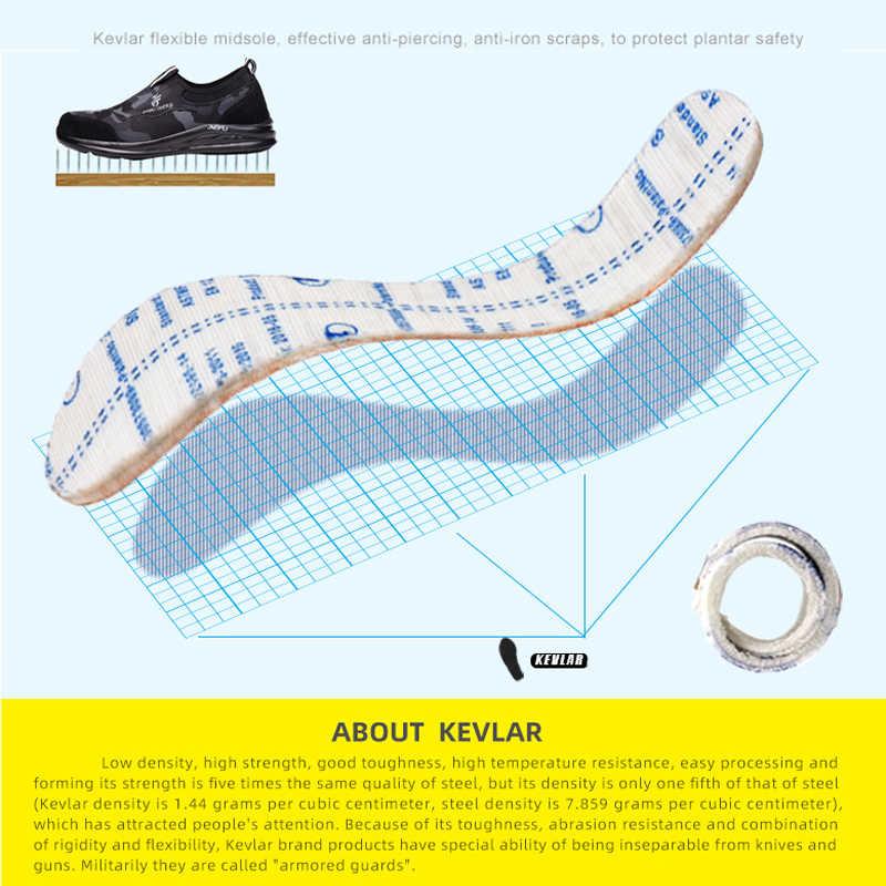Летняя легкая дышащая защитная обувь, противоскользящая для ремонта проколотых шин, безопасная обувь, повседневная Нескользящая удобная обувь, походная обувь