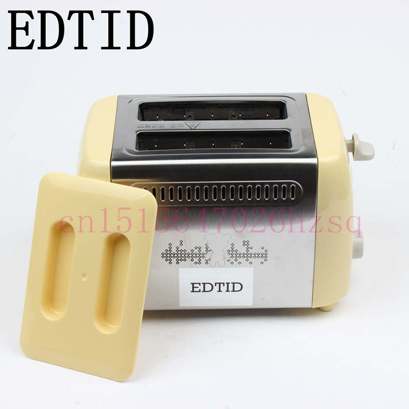 EDTID Household Two slices Electric Toaster Stainless steel wrap side full-automatic Breakfast machine Six gears 680W cukyi 2 slices bread toaster household automatic toaster breakfast spit driver breakfast machine