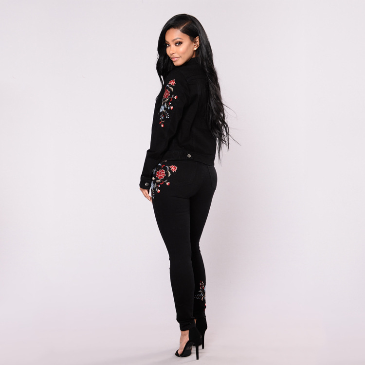 Jeans Woman 2019 New Sexy Embroidered Denim Pants Skinny Pencil Pants Stretch High Waist Casual Trousers Jeans Plus Size Jeans Women Bottom ! Plus Size Women's Clothing & Accessories