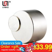 1pcs Super Strong Dia 50x30mm True N52 Rare Earth Neodymium Disc Magnet