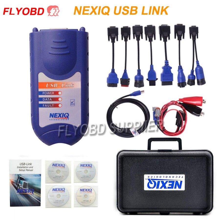 2018 NEXIQ Heavy Duty Truck Scanner Tool NEXIQ 125032 USB Link obd 2 Diesel Diagnostic Interface NEXIQ with all Installers