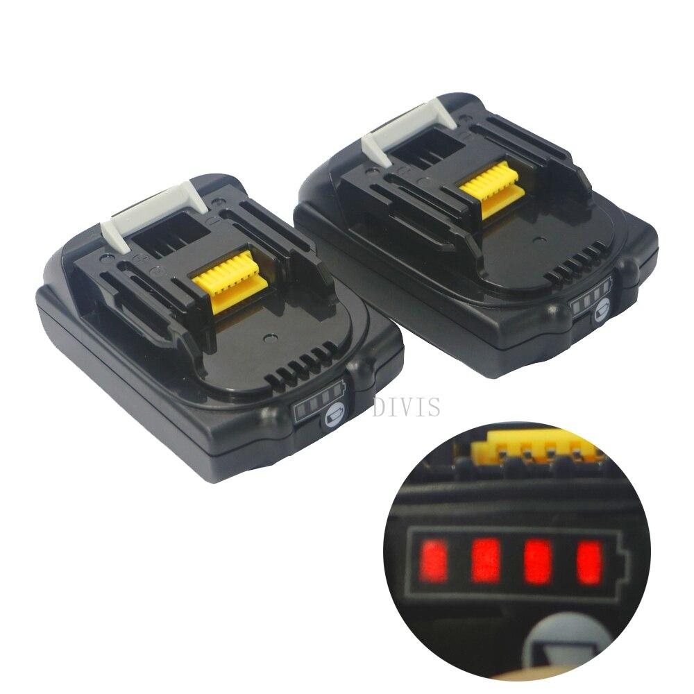 2/3pcs New 2000mAH 2.0AH 18V BL1820 For Makita BL1820B-2 BL1830 BL1815  With LED Gauge Universal Li-ion Battery Drill Saw LXT