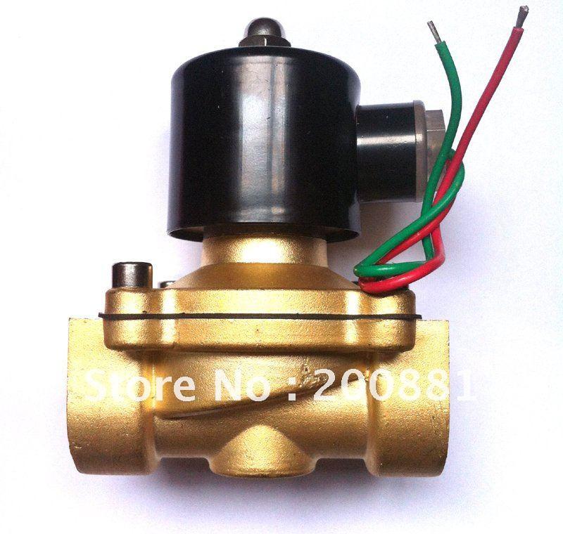 """G3//4/"""" Entrada De Agua N//C cerrada normal Eléctrico Solenoide Válvula de latón 2Way FCD-180B"""