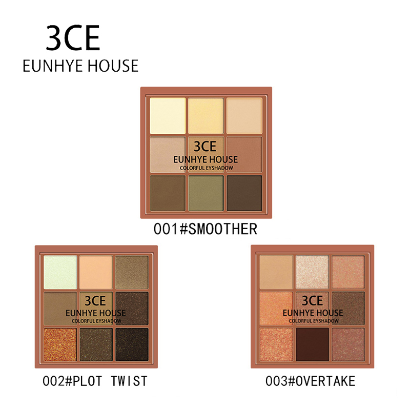 3CE EUNHYE HOUSE Charming Eyeshadow 9 Color Palette Make up Matte Shimmer Pigmented Eye Shadow Powder Waterproof Easy to Wear все цены