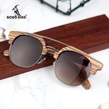 בובו ציפור נשים שמש משקפיים גברים עץ משקפי שמש גבירותיי קיץ סגנון חוף Eyewear ב מתנת עץ תיבה