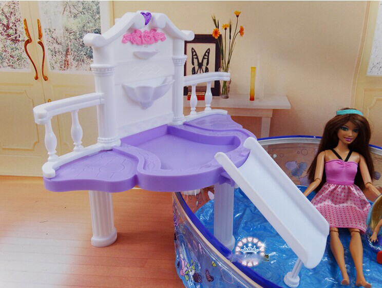 Doll S Swimming Pool Set Dollhouse Furniture Puzzle Baby Toy