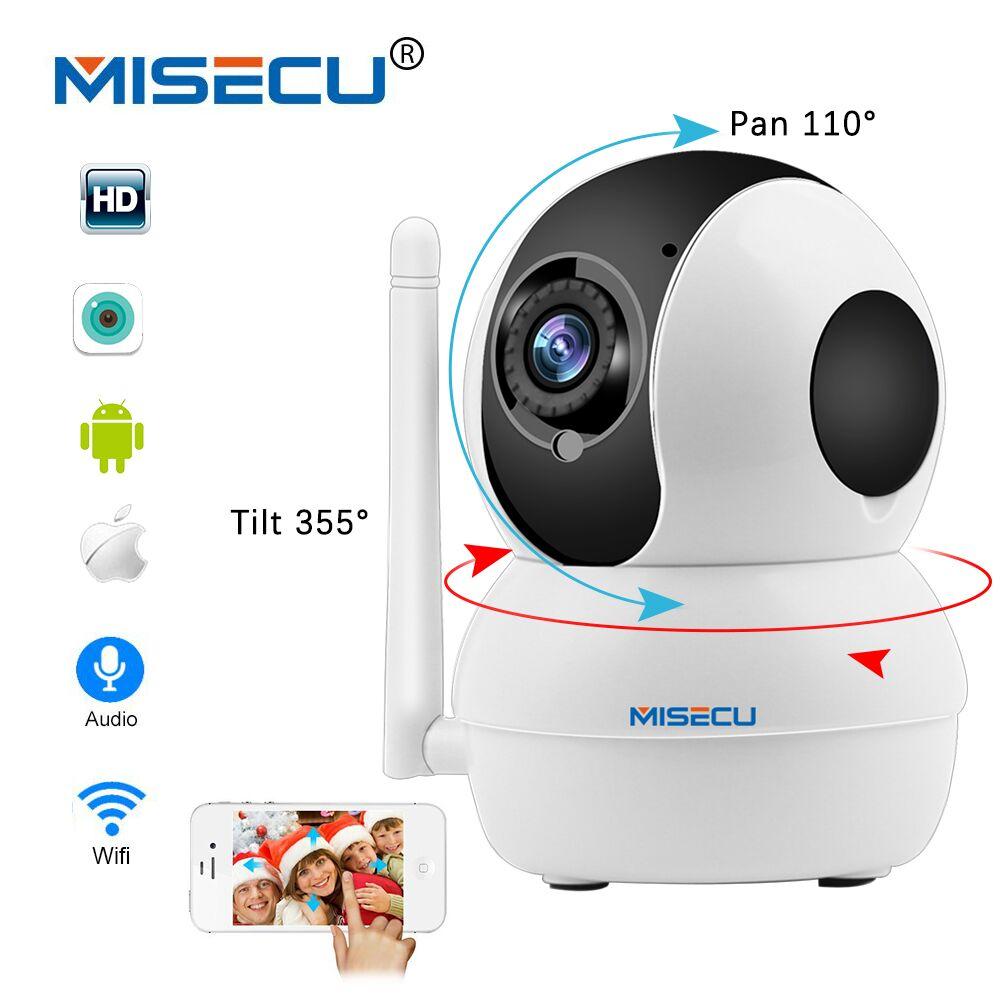MISECU Smart Mini Pan Tilt IP Cameras WiFi 1080P Indoor Dome Camera IP Wireless Two Way Audio Motion Alarm IR Night Baby Monitor