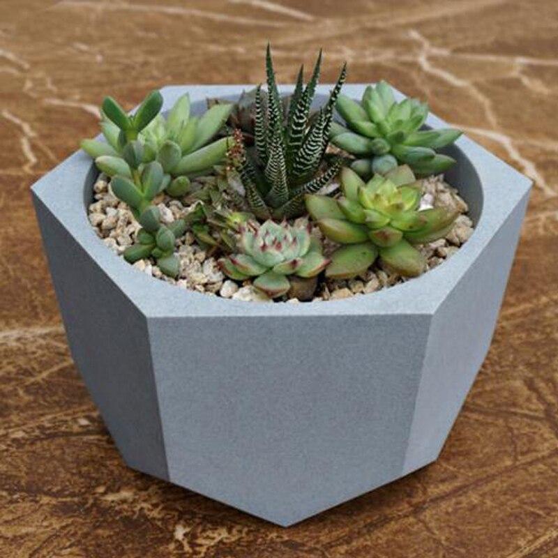 Творческий полигон ваза бетонных кашпо формы ручной работы ремесло поделки ручной работы украшения Geometry цемента цветочный горшок силиконо...