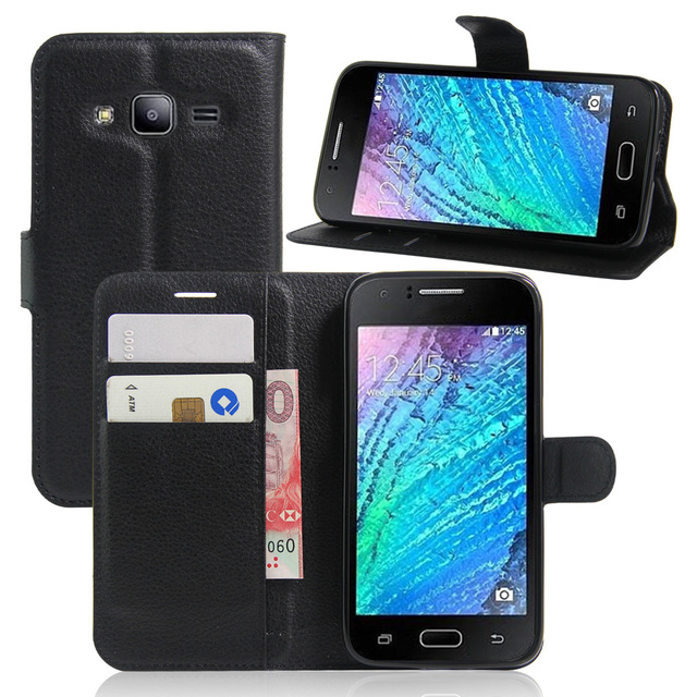 best service 6ce96 08c62 US $4.19  for samsung galaxy J210F wallet Flip Leather Case for samsung  galaxy J2 PRO case cover with phone stand card slots-in Wallet Cases from  ...