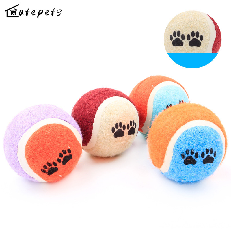Cat Dog Pet Tennis Ball Chew Toy Supplies Outdoor Cricket Playing Funny Practice for The Puppy Dog