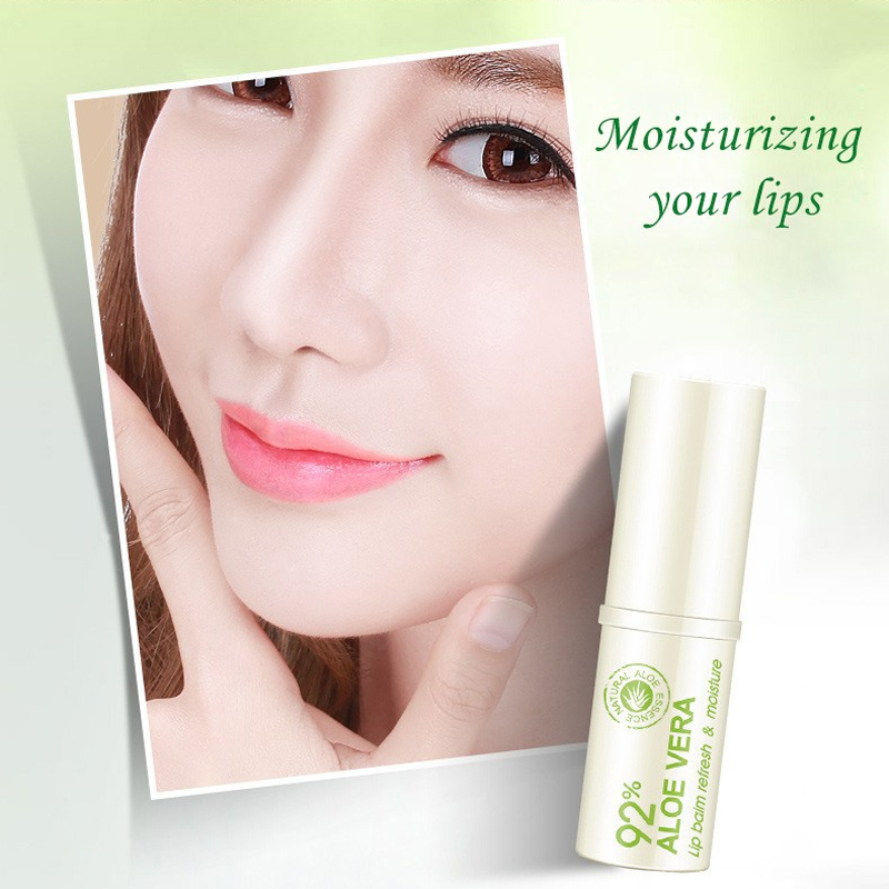 BIOAQUA Natural Aloe Repair Lip Balm Colorless Long Lasting Lips Skin nourishing Moisturizing Lips Care Lipsticks in Lips from Beauty Health