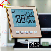 New Fashion Digital Room Programmable Heating Thermostat for Water Heating System, Large LCD Display, Whole-sale-M75.03