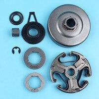 3/87T 8T Rim Sprocket Clutch Drum Kit For HUSQVARNA 365 372 372XP 371 362 Chainsaw w/ Worm Gear Needle Bearing Washer Clip