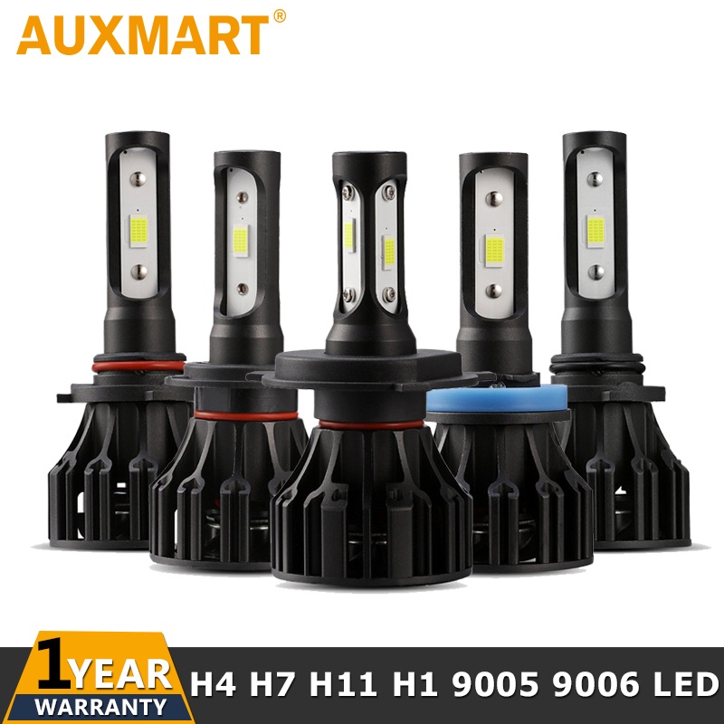 Auxmart H4 Hi lo Beam H7 H11 H1 H3 9005 9006 Car LED Headlight Bulbs 72W 8000lm 6500K Auto Led Headlamp Light Bulb 12v 24v h4 h7 h11 h1 h13 h3 9004 9005 9006 9007 9012 cob led car headlight bulb hi lo beam 72w 8000lm 6500k auto headlamp 12v 24v%2