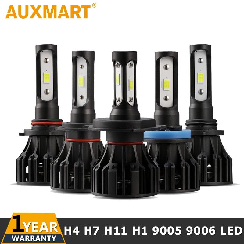 Auxmart H4 Salut lo Faisceau H7 H11 H1 H3 9005 9006 Voiture LED Phare Ampoules 72 w 8000lm 6500 k auto Led Projecteur Ampoule 12 v 24 v