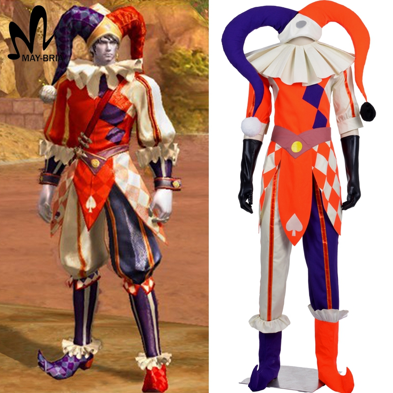halloween costumes for adult professional Game AION Clown costume amusement park Clown cosplay costume Humorous Costume halloween costumes clown dressed up acting cute nose red