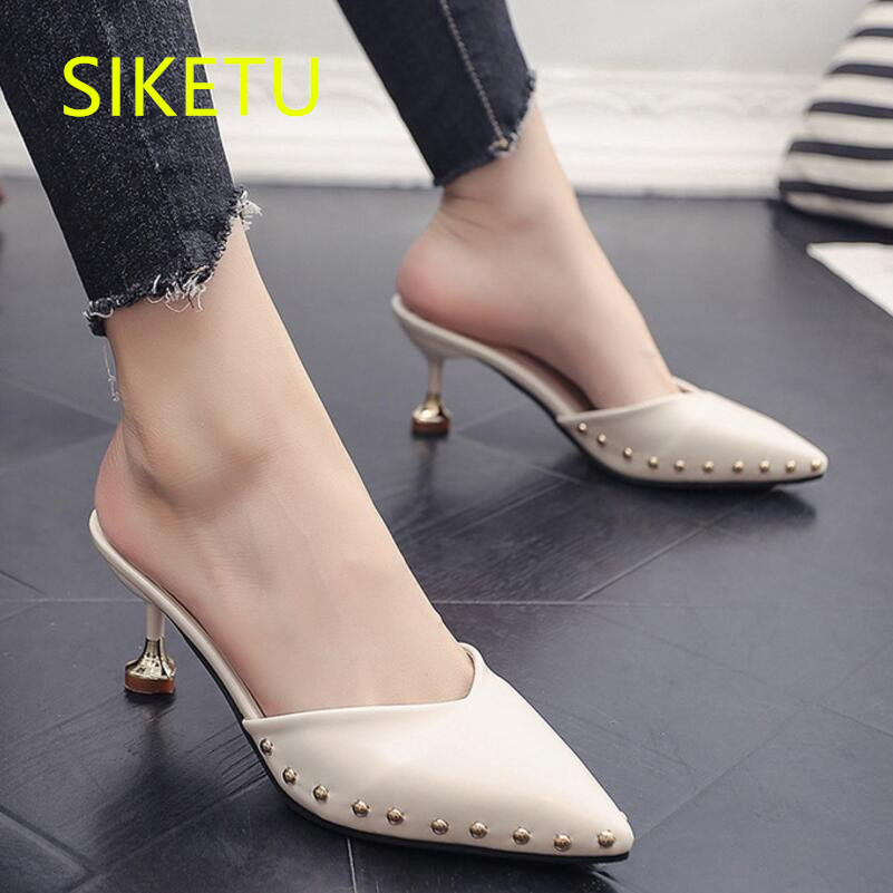 SIKETU Free shipping Spring and autumn women shoes Fashion high heels shoes summer wedding shoes pumps g239 Rivets sandals 2017 free shipping siketu spring and autumn women shoes fashion high heels shoes wedding shoes pumps g174 summer sandals