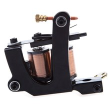 Solong Tattoo Electric Classic Black Carbon Steel Tattoo Machine Gun Adopts 8 Wraps Coils Liner Shader New Imported