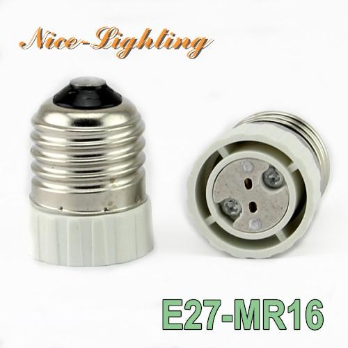 10pcs/lot E27-MR16 Lamp Holder Converter Screw Socket E27 to MR16 GU5.3 Lamps Holder Adapter Light Bulb Plug Extender Free Ship