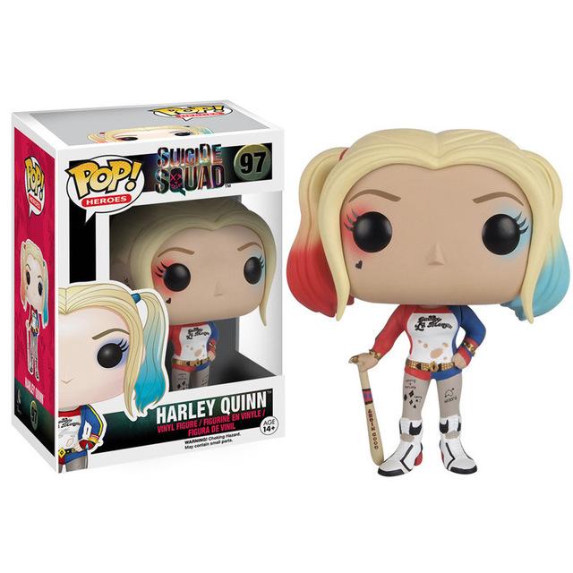 Bonito Menina Coringa Harley Quinn Funko Pop Figura Boneca Brinquedos Filme Esquadrão Suicida Harley Quinn Estatueta de Vinil Boneca oyuncak