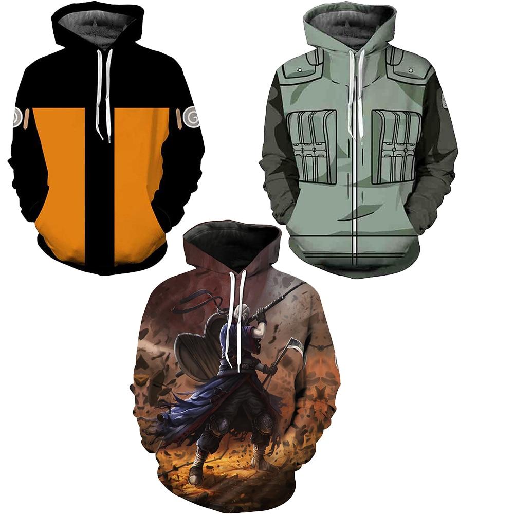 Unisex Anime NARUTO Sasuke Uchiha Casual Hooded Sweatshirt Hoodie Jacket Coat