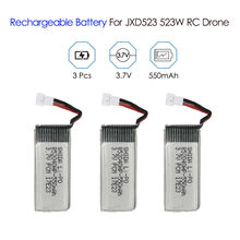 цена на TOMLOV 3.7V 550mAh Li-Po Rechargeable Battery Replacement Spare Part FPV For JXD523 JXD523W RC Drone Quadcopter Practical