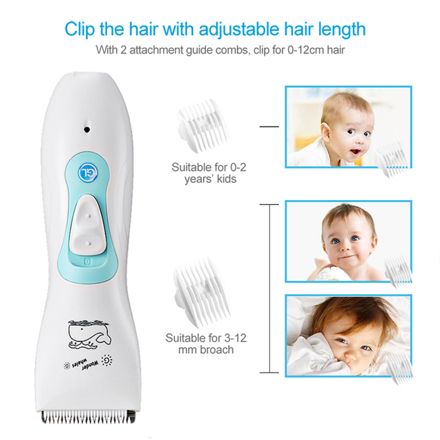 Original Brand GL Baby Hair Clipper USB Electric Hair Trimmer Rechargeable Waterproof Clipper Adjustable Adult Child Quiet Baby