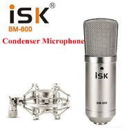 ISK BM 800 BM 800 Condenser Karaoke Microphone Professional Computer Recording studio mikrofon Music Broadcast
