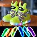 2017 new shoes baby shoes para os homens e mulheres das crianças coloridas luzes led up sneakers casual shoes tamanho 21-30