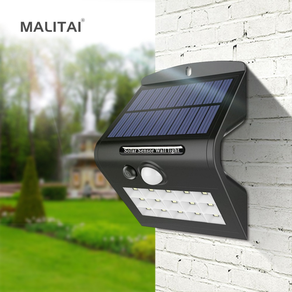 Solar Outdoor Lights No Batteries: Easy To Replace Battery 18650 Solar LED Outdoor Wall Light