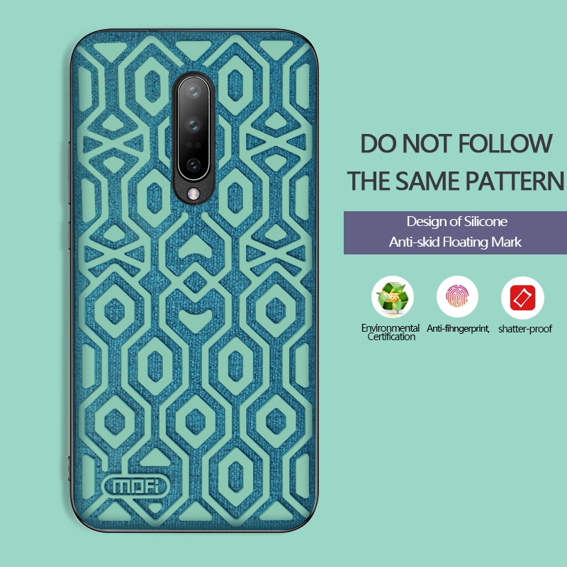 For Oneplus 7 case cover one plus 7 protective silicone skid proof cloth back cover Mofi 1 7 case coque for oneplus 7 pro capas in Fitted Cases from Cellphones Telecommunications