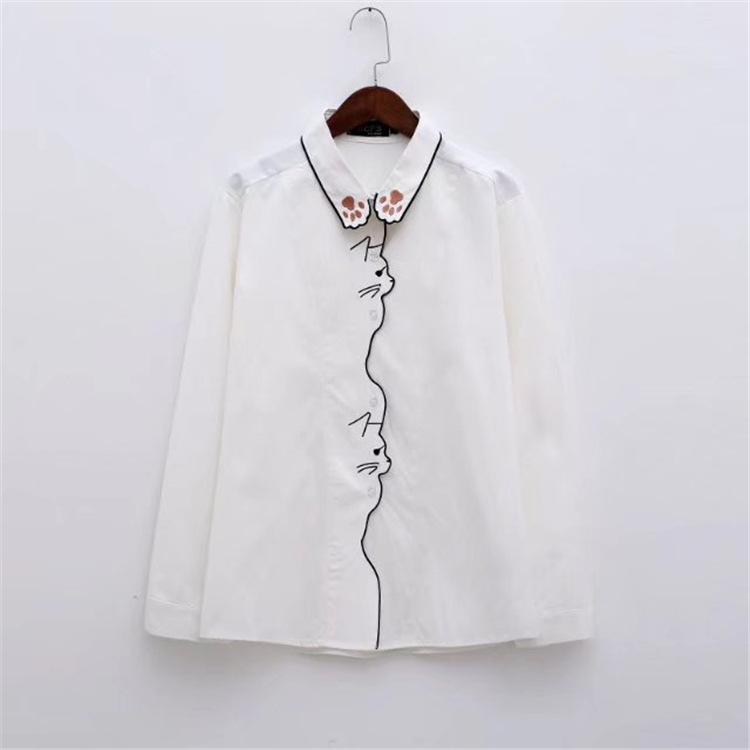Women's Clothing Inventive Kyqiao Women Striped Shirt 2019 Mori Girls Spring Japanese Style Long Sleeve Turndown Collar Asymmetric Blue Striped Blouse 2019 Official