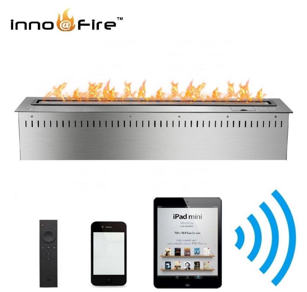 On Sale 60 Inch Lareira Interior Decorative Fireplace Indoor Used  Bio Ethanol Burner