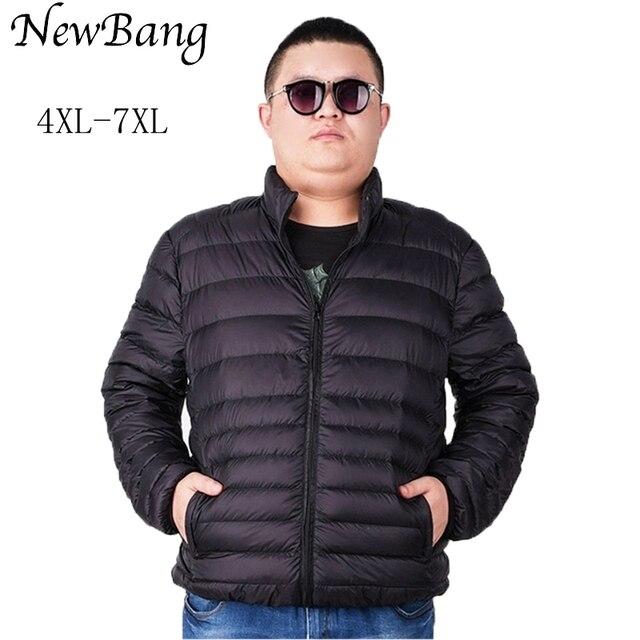 NewBang Plus 5XL 6XL 7XL Ultra light Down Jacket Men Down Coat ...
