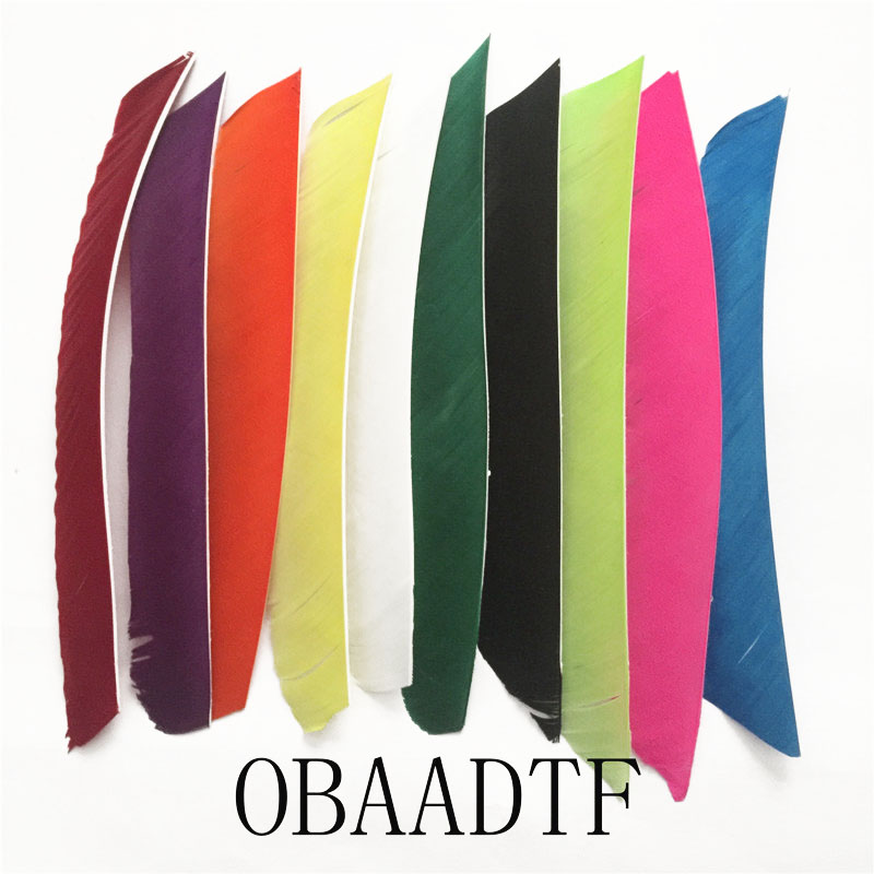 1000pcs 18 25cm Multicolor Full Length Real Turkey Feather For Archery Hunting And Shooting Arrow New Arrivals in Bow Arrow from Sports Entertainment