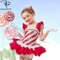 2017 cotton children's Dance Ballet dress for kids 90 140cm height