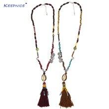 Новый дизайн роскошное богемное ожерелье с цветными бусинами