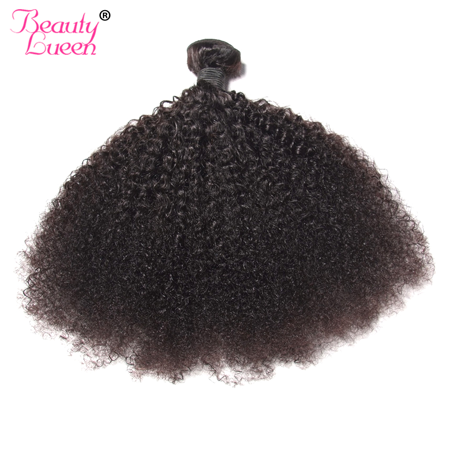 Mongolian Afro Kinky Curly Hair Extension Human Hair Bundles Weave/4 Bundles Beauty Lueen Remy Hair