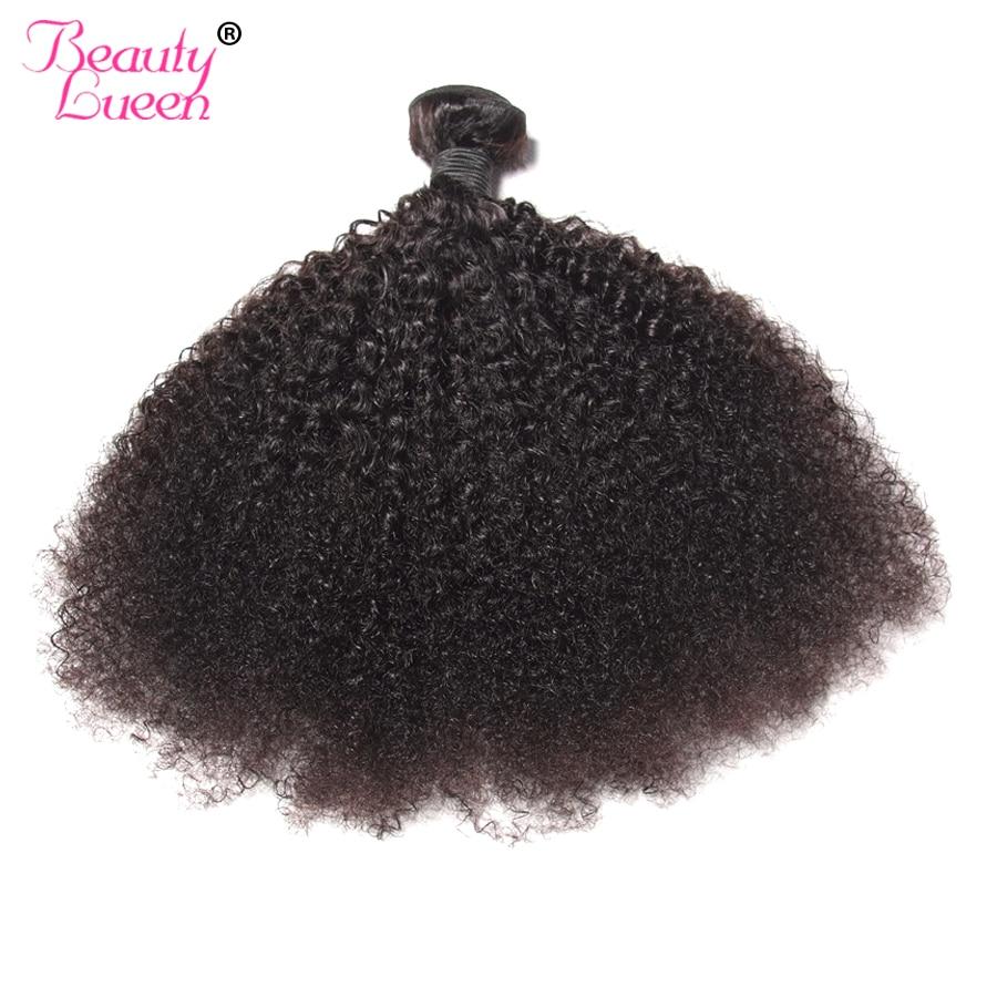 Mongol haj Afro Kinky göndör hajhosszabbítás Emberi haj köteg - Emberi haj (fekete) - Fénykép 2