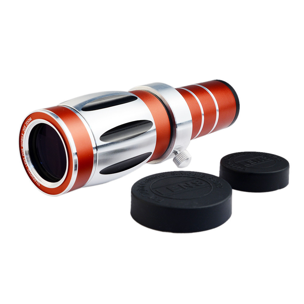 High end 3in1 20x Optical Zoom Telephoto Telescope Lens Kit+Tripod Phone Cases Mobile Phone Camera Lenses For Samsung iPhone - 5