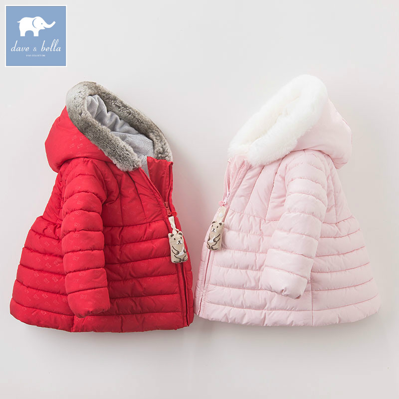 DB5551  dave bella winter infant baby girl fashion Jackets toddler girls Hooded outerwear children cute hight quality куплю маз 5551 5549 в украине