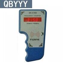 Cymometer Indicador QBYYY SK-C100 CONTADOR De Freqüência 250 mhz-450 MHZ Scanner Detector De Freqüência do Transmissor de Controle Remoto