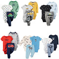 Baby boy cotton clothing + pants baby girl  3Pcs Set  newborn Infant  Printed Clothes suit  baby 3pcs set casual  Rompers   ST38