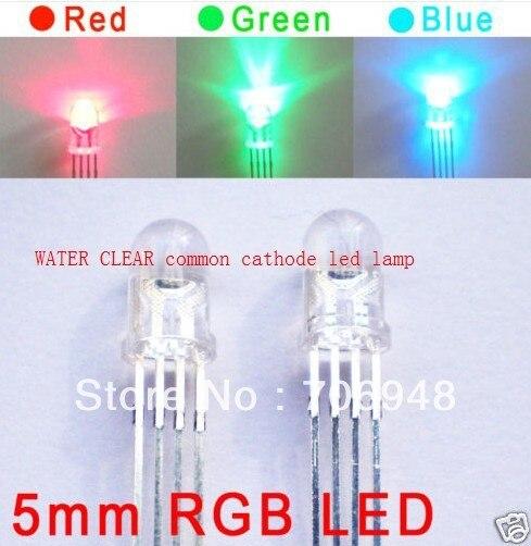 100x5 мм Чистый RGB светодиод общий катод