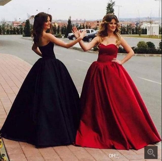 2016 Beautiful Black Off The Shoulder Prom Dresses Satin Ball Gown